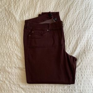 Torrid jeans burgundy 26 Xtra Tall